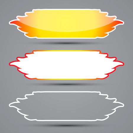Web banners with flames, vector illustration Vector