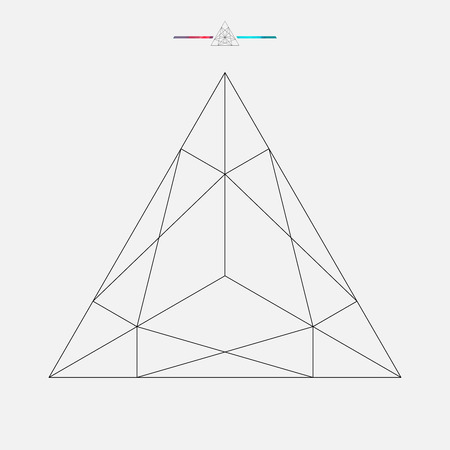 geometric shape: Forma geom�trica, tri�ngulo vector aislado