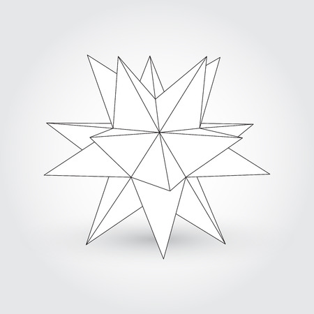 the polyhedron: Polyhedron, star shape Illustration