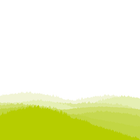 grass silhouette: Green landscape background, forest, vector illustration
