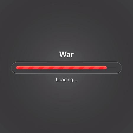 War loading, progress bar, vector illustration Vector