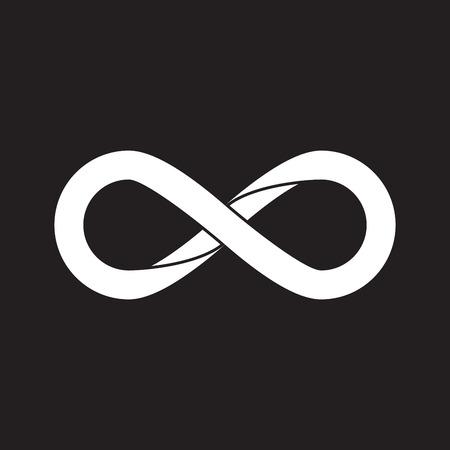 limitless: Infinity symbol, flat design