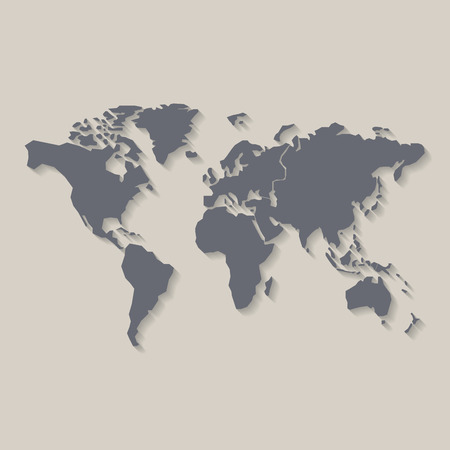 World map, vector illustration