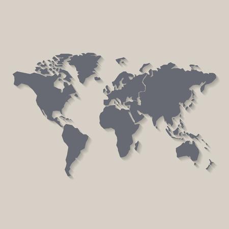 Wereld kaart, vector illustratie