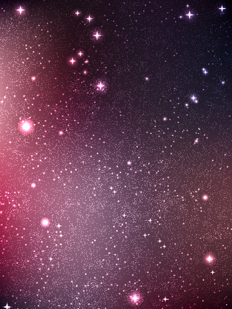 Universe filled with stars, nebula and galaxy, vector illustration Illustration