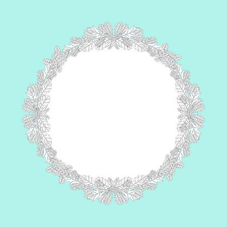 midsummer: Oak leaf wreath, vector illustration