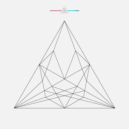 geometric shape: Forma geom�trica, aislado tri�ngulo vector