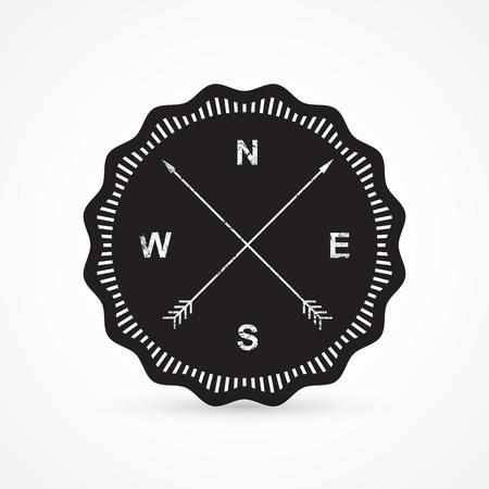 Vintage compass Vector