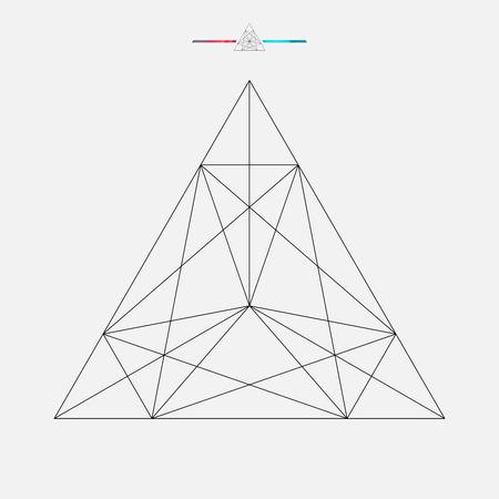 Forme géométrique, vecteur triangle isolé