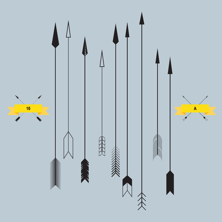 bow and arrow: Set of Arrows, vector illustration
