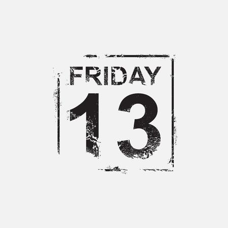 Friday 13th, grunge design, vector illustration Illustration