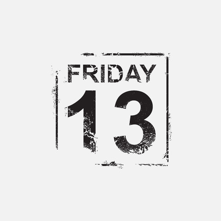 friday 13: Friday 13th, grunge design, vector illustration Illustration