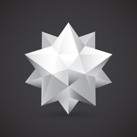 polyhedron: Polyhedron, vector illustration Illustration