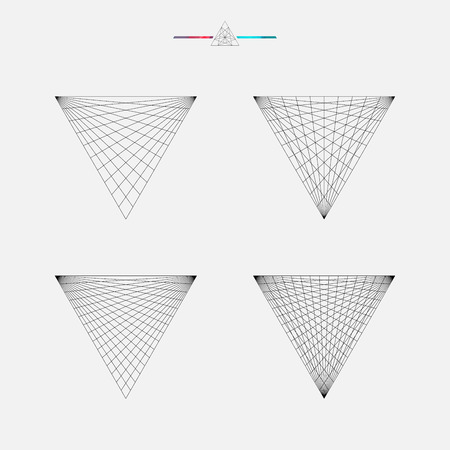 Geometrische tekening, driehoek ontwerp, vector illustratie