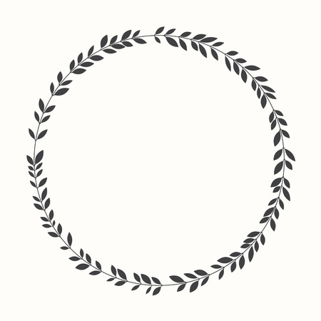 Vector laurel wreath, silhouette