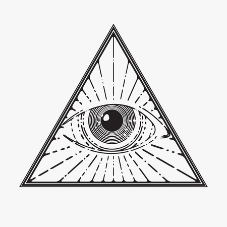 All seeing eye symbol, vector illustration Ilustrace