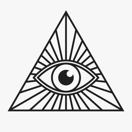 allen: Alziende oog symbool, vector illustratie