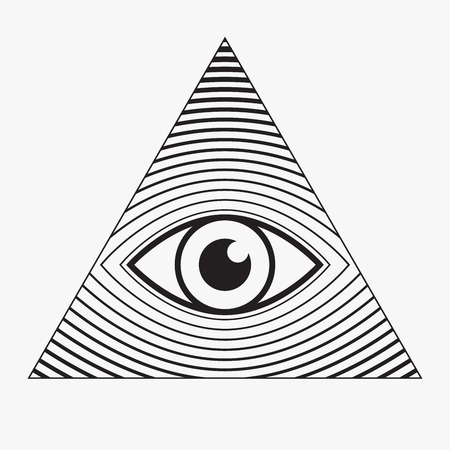 All seeing eye symbol, vector illustration Ilustracja