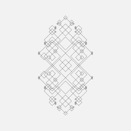 Abstract geometric element, squares, line design 矢量图像