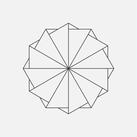 convergence: Vector element, geometric shape, windmill