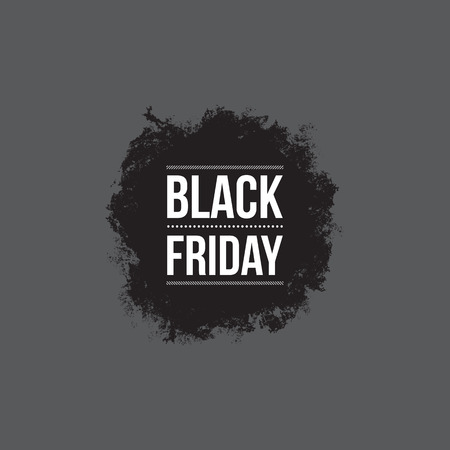 grunge shape: Black friday sign, grunge shape, typographic design