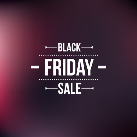 Black friday sign, typographic design Illustration