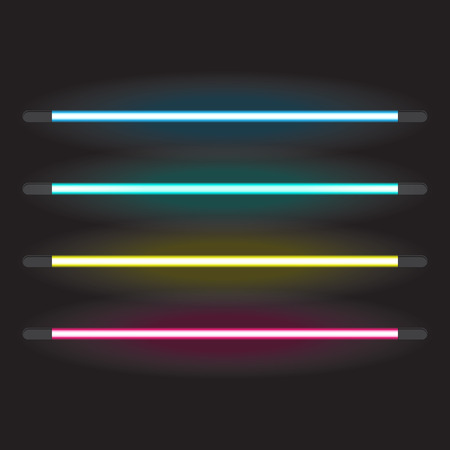 Set of neon tube lights Vector