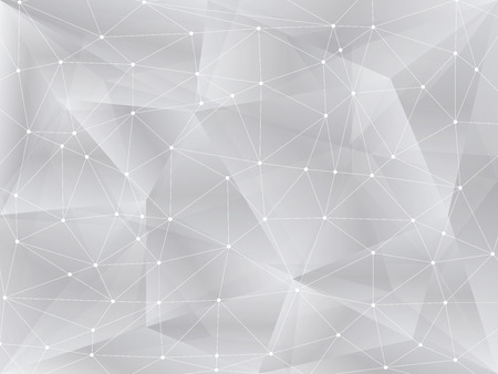 Polygonal background, geometric pattern, white color Ilustracja