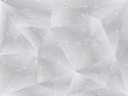 Polygonal background, geometric pattern, white color Illustration
