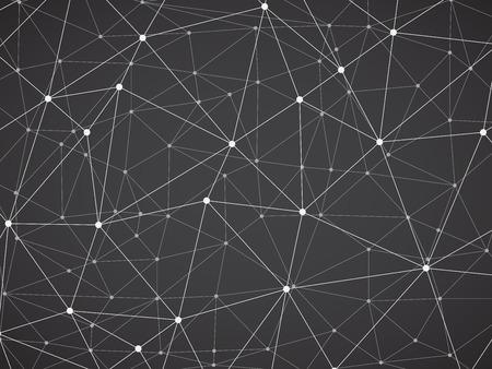 construction mesh: Polygonal background, geometric pattern, grey color Illustration