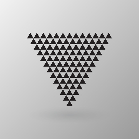 Triangle element, vector illustration