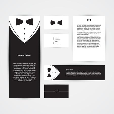 Invitation template black design with bow tie business card invitation template black design with bow tie business card banner vector illustration colourmoves