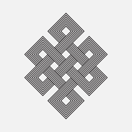 intertwined: Intertwined pattern, square vector element
