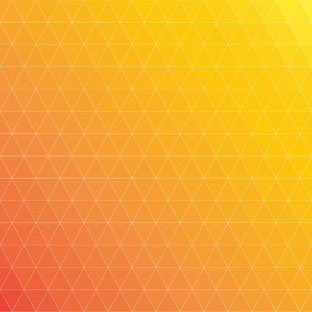 Fond géométrique, triangles jaunes et oranges Vecteurs