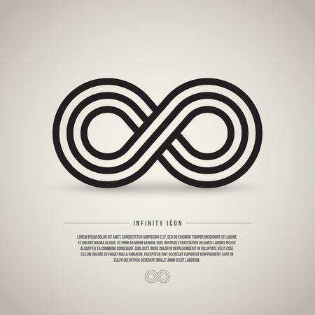 infinity icon: Infinity symbol, vector illustration Illustration