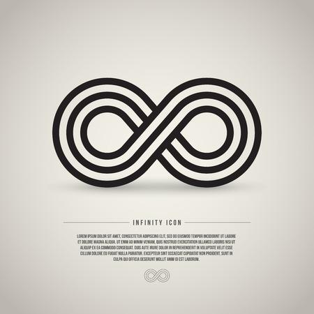 Infinity symbol, vector illustration Ilustração