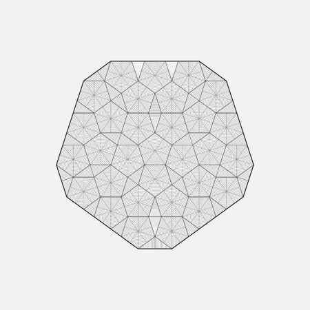 interconnected: Geometric element, line design, hexagons, vector illustration