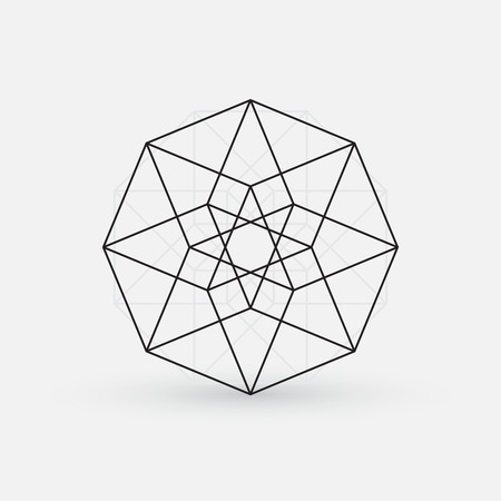 Geometric element, line design, star shape