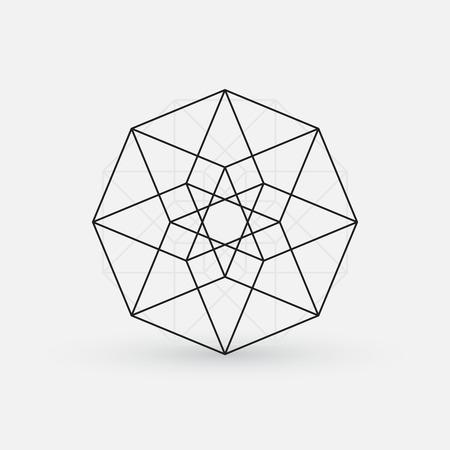 Geometrische element, line design, stervorm Stock Illustratie