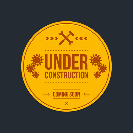 under construction: Under construction sign, graphic design, vector