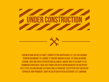 Under construction sign, vector Illustration