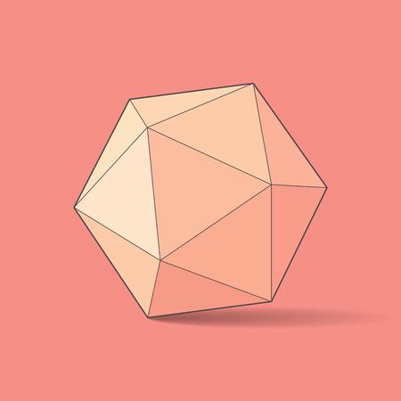 icosahedron: Icosahedron, vector illustration
