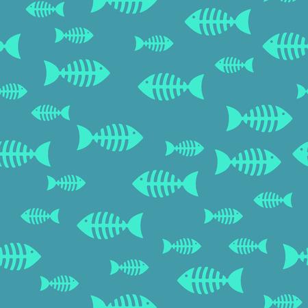 Fish bone, seamless pattern Ilustrace