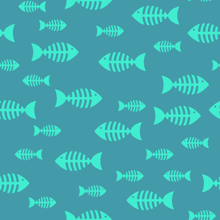 Fish bone, seamless pattern Illustration