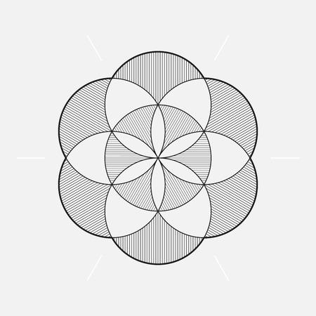 circles vector: Geometric element, circles, vector illustration Illustration