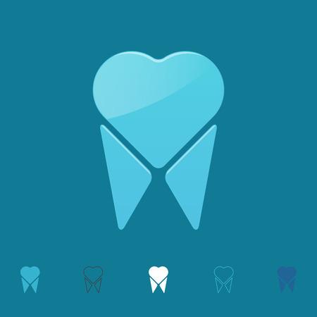 Tooth logo, vector illustratie