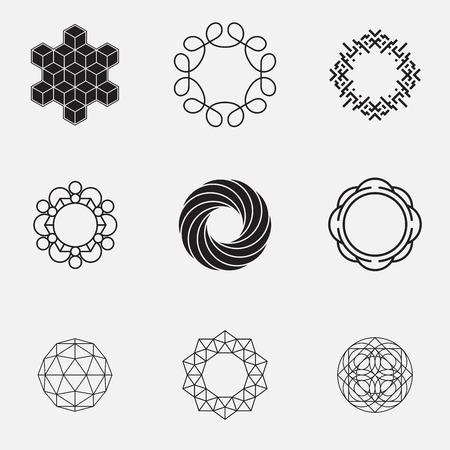 geometric shapes: Set of geometric shapes, circles, vector Illustration
