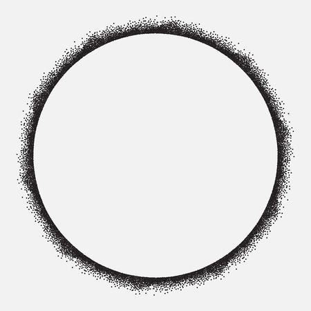 Circle frame, grunge design, isolated, vector