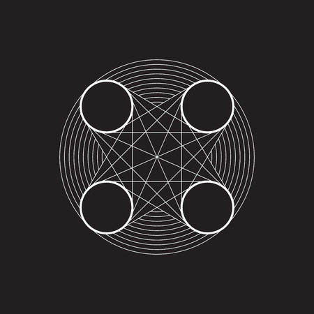 Geometric element, line design, circle and line, vector