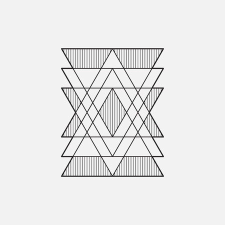 Modern geometrisch symbool, lijnontwerp, vector, driehoeken Stock Illustratie